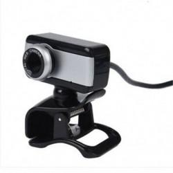 1X (USB webkamera webkamera MIC CD-vel az asztali PC laptophoz, fekete H2Z6)