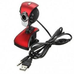 USB 50M 6 LED-ek Éjjellátó kamera Webkamera Webkamera mikrofonnal a PC-hordozható számítógéphez, Wi F6L4