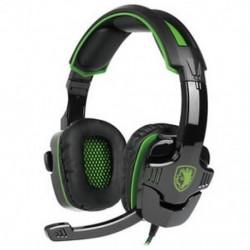 1X (SADES SA-930 sztereó térhatású fejhallgató fejpánt mikrofon fejhallgató M6U9)