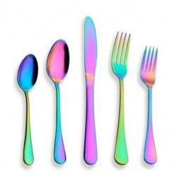 1X (20 darab evőeszköz-készlet, rozsdamentes acél színes titán-lemezzel, MuK5T4)