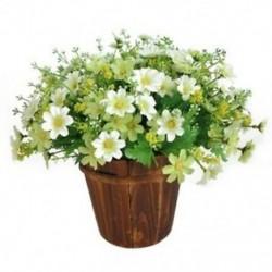 1 csokor 28 fej mesterséges hamis százszorszép virág beltéri kültéri függőleges terv V2Y5