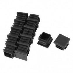 12 db 19 mm x 19 mm tömítéssel ellátott végsapkák négyzet alakú csőcső betéttel, műanyag G6E6