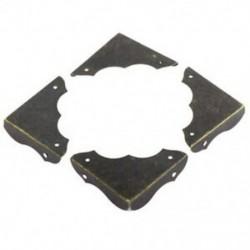 1X (fém asztali retro stílusú sarokvédő védő 40mmx40mm 4 db bronz V6V9)