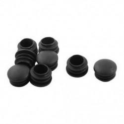 1X (8 darab Asztali láb 25 mm átmérőjű műanyag csőbetét fekete lábbetét Q3O7)