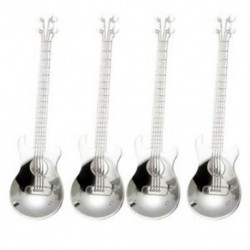 Gitárkávé kanál, 4 db rozsdamentes acélból készült zenei kanál Teaspoo M1C8