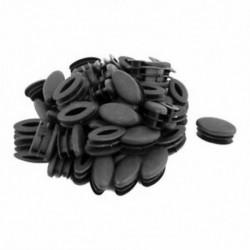 1X (otthoni irodai ovális alakú műanyag asztalszék lábak, lábbetétek, cső fekete 5 G7A0