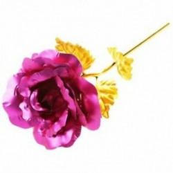 Rózsa Valentin napi ajándék Arany Rózsa virág kis medve rózsaszín J2W4