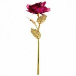 Rózsa Valentin napi ajándék Arany Rózsa virág kis medve Fukszia F7E1