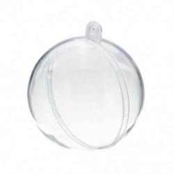 20db Kétrészes műanyag gömb - 5 cm - Karácsonyi díszek készítéséhez - L7J3