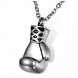 5X (hamvasztás ékszerek rozsdamentes acélból készült boksz-kesztyű, emlékmű hamu medál Ur F4Q6