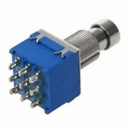 Gitárhatások 3PDT 9-pólusú reteszelő stomppedál lábkapcsoló lábkapcsoló kék N4M2