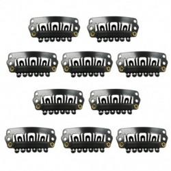 Fekete Snap klipek 10 darabos U-alakú fém klipek a hajhosszabbításhoz DIY R3R1