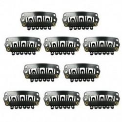 Fekete Snap klipek 10 db U-alakú fém klipek hajhosszabbításhoz DIY H8L3