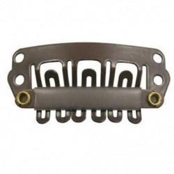 10 db barna Snap klipek U-alakú fém klipek a hajhosszabbításhoz DIY G7X2