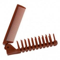 2 db hölgyes kávé színű, halcsont alakú, kétirányú hajtogatható hajkefe, zsebkompresszor K3W1