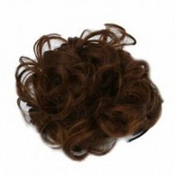 Hullámos, göndör, szintetikus hajrügyekkel borított hajdíszek a Scrunchie hajban, kiterjesztik a K8K2-t