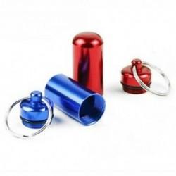 6db vízálló alumínium pirula doboz tok palack gyorsítótár gyógyszertartó kulcstartó Co J7Q8