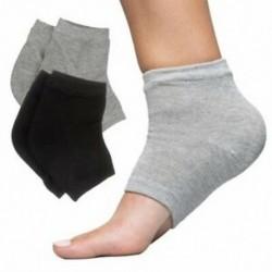 Hidratáló sarok-zokni géllel a száraz, repedt sarok gyógyításához (pamut, fekete és X5P5