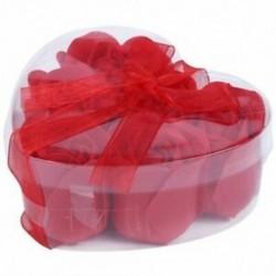 6 db vörös illatú fürdőszappan rózsaszirom a K5Z1 szív alakú dobozban