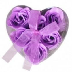 6 darabos lila fürdőkád zuhanyzós rózsaszirom szappan virágos szappan szappan N1D1