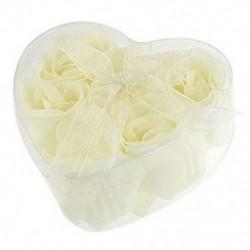 Fürdő BTower OfWhite Rózsa virágfürdő szappanszirmok w szív alakú dobozban