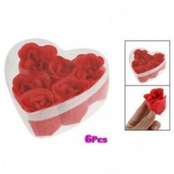 Ajándék karácsony 6 darabos piros 3x4cm 1,2x1,6 illatos fürdőszappan rózsaszirom a U0 füldobozban