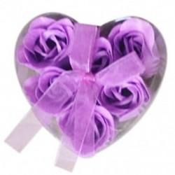 1X (6 darab lila fürdőkád zuhanyzó rózsaszirom szappan virágos szappan szappan E6A5)