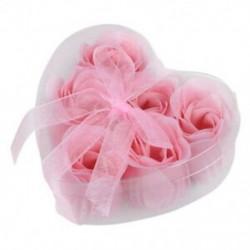 2X (6 darab világos rózsaszín dekoratív illatos rózsavirág-szirom szappan esküvői kedvenc Z6Z5)