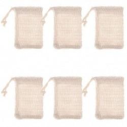 6 db természetes hámlasztó szappan táskák Kézzel készített Sisal szappan táskák természetes Sisal N8T2