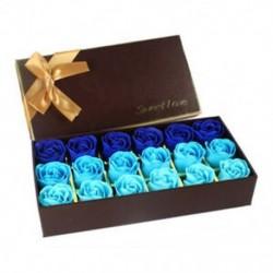 Kék - 18 db kreatív színátmenet szimuláció rose rose szappanvirág kék Q2X9