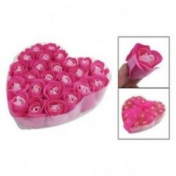BT 24 db piros fukszia illatú rózsa virágszirom fürdőfürdő test szappan esküvő