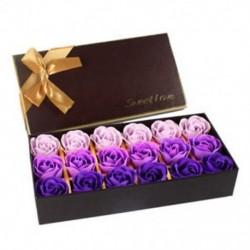 18 db kreatív színátmenetes szimuláció rózsa szappanvirág Purple Z2K9