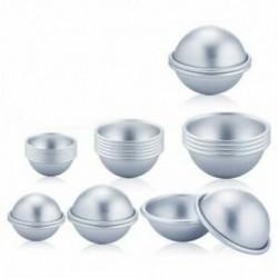 Ezüst színű - 45-55-65mm-es 24db Félgömb alumínium forma - csokoládéforma - jégkrémforma - szappanforma - L3K7