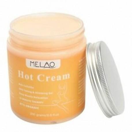 3X (MELAO 250g cellulit elleni forró krém karcsúsító és mély izomlazító test G6U8