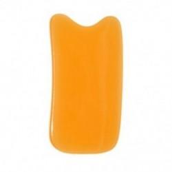 Négyzetes alakú gyanta Gua Sha szerszám kürt karcoló lemez, narancssárga I2X2