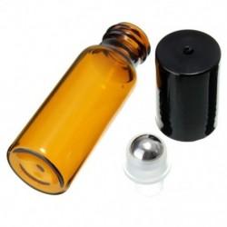 10 db 10 ml üvegfém acél gömbgörgő palackok Parfüm illóolaj F9Z9