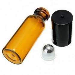 10 db 10 ml üvegfém acél gömbgörgő palackok Parfüm illóolaj P8G7