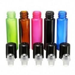 5db-os vegyes színes 10ml-es roll-on üveg palack illóolaj parfümhenger O7F8