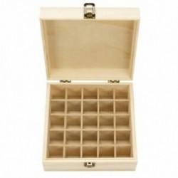 1X (fa tárolódoboz, 1db. Carry Organizer illóolaj palackok Aromaterápia A7J6