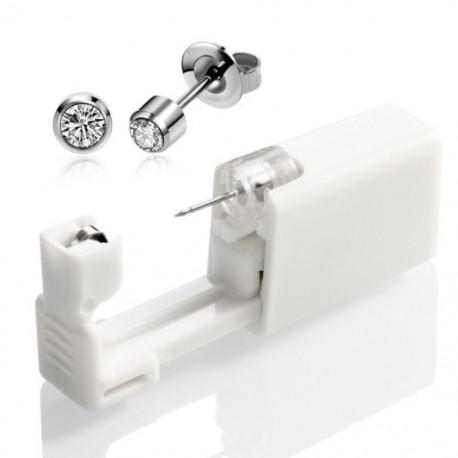 1X (eldobható fül - és orrlyukasztó eszköz, unisex steril keret, divatos fül E7N1