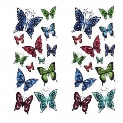 2db Ideiglenes Tetoválás - vízálló matrica - unisex - Pillangó mintás - Többféle mintával - J3S9