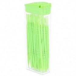 50 db műanyag fogpiszkáló, kétirányú fogpiszkáló, interdentális kefetisztítók, L7P0 port
