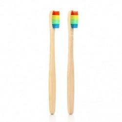 1X (Vaclav 2Pc bambusz fogkefe Rainbow Bambusz fogkefe rostos fogkefeU9T2)