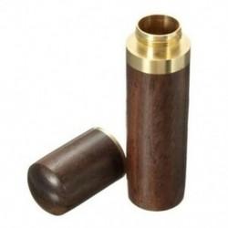 Ebony fa fogpiszkáló tartó vödör Mini doboz túrázás hordozható kézműves kézműves A5H7