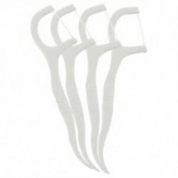 1X (50 darabos műanyag fogpiszkáló fogselyem fehér C7F3)