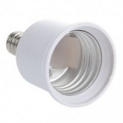 Új forró Eladás Fehér E12 - E27 gyertyatartó izzólámpa aljzat-bővítő adapter S6F0