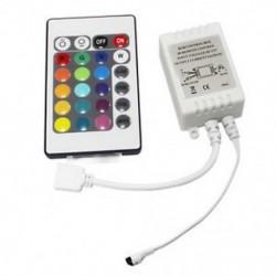 LED RGB vezérlővezérlő IR FB 24 gomb fehér 12V K5N4 E2O6 X7R0