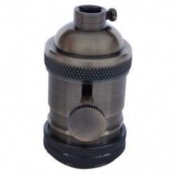 E27 ES Vintage Retro Edison csavar izzó foglalat lámpatartó lámpa kapcsolóval V8Y6