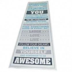 1X (Légy félelmetes, motiváló motivációs boldogság idézetek D8V3 dekoratív poszter
