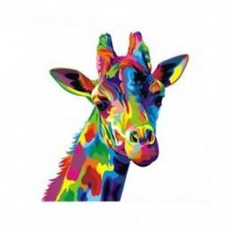 Színes zsiráf állati vászonfestmény nyomtatott kép Wall Art keret nélküli De E7B0